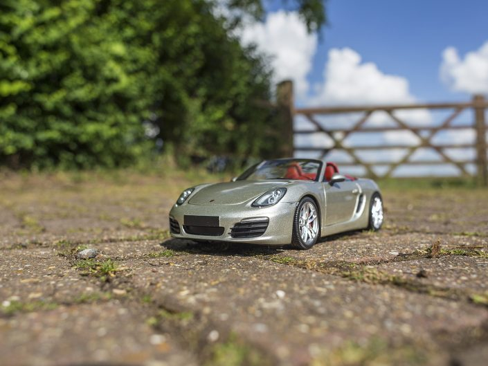 Porsche Boxster S and 1:18 model
